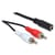 Delock 2x RCA Male naar 3.5mm Stereo Jack Female 1.40m