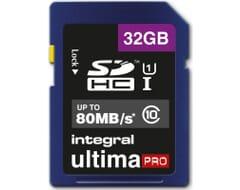 Integral SDHC Speicherkarte 32GB UltimaPro UHS-I Klasse 1