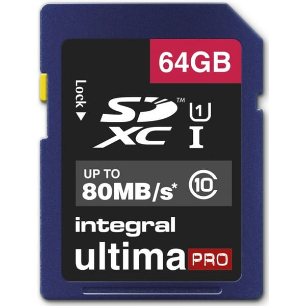 Integral 64GB SDHX Memory Card UltimaPro UHS-I U1/Class 10