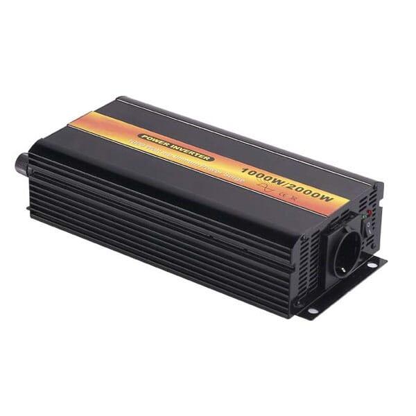 DC/AC Omvormer 24V naar 230V (50Hz/1000W Pure Sine Wave)