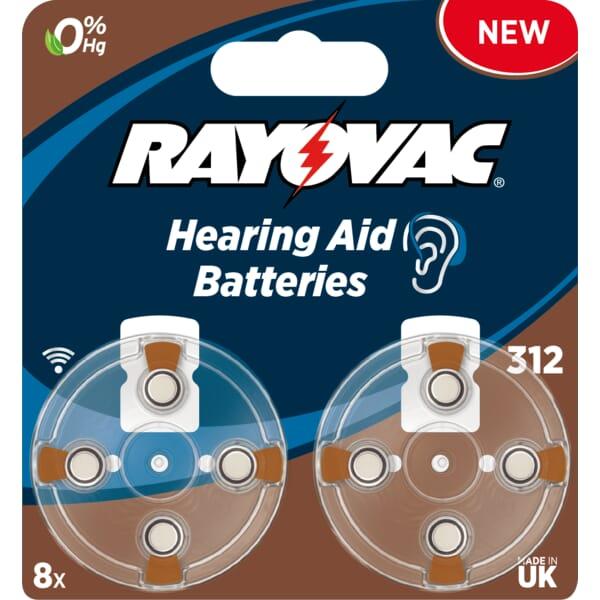 Rayovac Hoortoestel batterij Bruin V312 160mAh - Blister 8