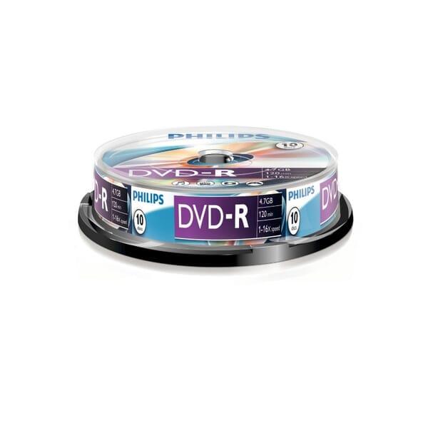 Philips DVD-R 16-Speed 4.7GB 10 Stuks Spindel voor Toshiba Satellite L670D-120