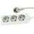 Blu-Basic Power Strip 3 Fold with 1.5 Meter Cable - White