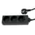Blu-Basic Power Strip 3 Fold with 1.5 Meter Cable - Black