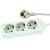 Blu-Basic Power Strip 3 Fold with 3 Meter Cable - White