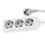 Blu-Basic Power Strip 3 Fold with 5 Meter Cable - White