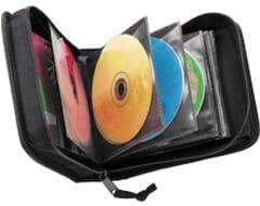 Nylon 32 capaciteit CD portemonnee, zwart