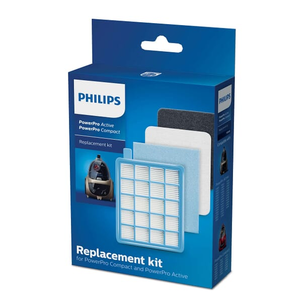 Philips Filter vervangingsset PowerPro Active & Compact