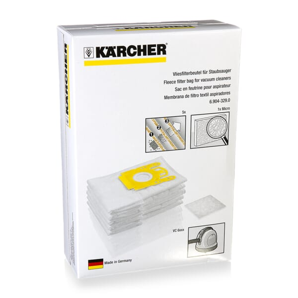 Karcher Stofzuigerzak (5 zakken + filter)