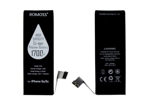 Romoss GSM Accu voor iPhone 5S/5C