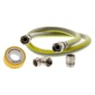Scanpart gasslang aansluitset 125cm RVS flexibel PVC