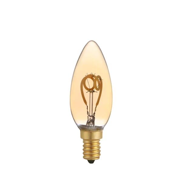 LEDs Light Filament lamp gedraaid C35 E14 3W 100LM