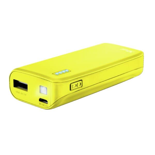 Trust Primo Powerbank 4400mAh - Neon Geel
