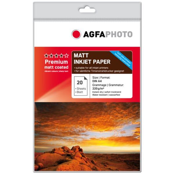 AgfaPhoto Premium Dubbelzijdig Mat Fotopapier 20 Vel A4 voor Brother HL-2240