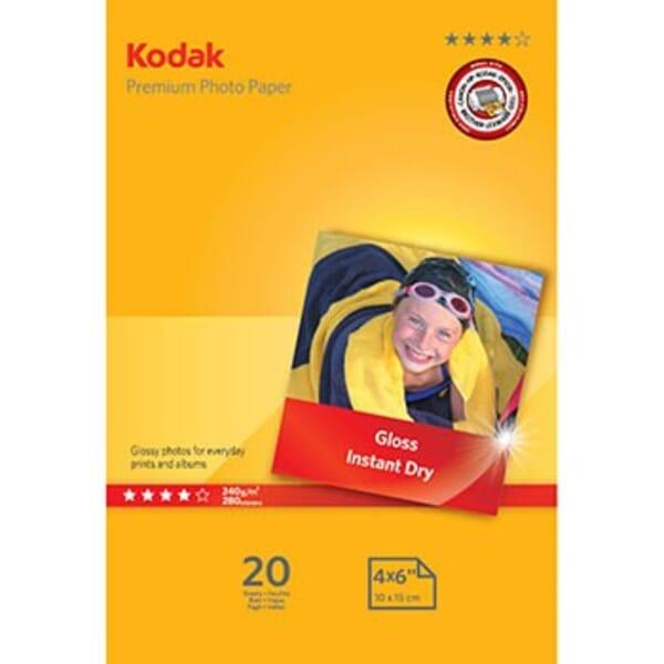 Kodak Premium Glanzend Fotopapier 20 Vel A6 voor Brother HL-2240