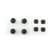 Rubberen Schroefdoppen Zilver/Zwart voor Nintendo New 3DS XL