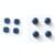 Rubberen Schroefdoppen Blauw voor Nintendo New 3DS XL