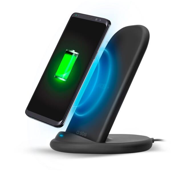 SBS Mobile Desktop Stand QI-Draadloze Lader 10W ADS - Zwart