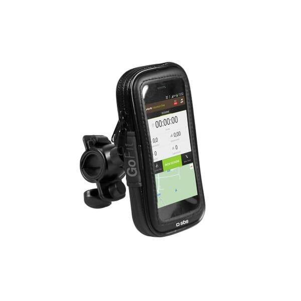 SBS Mobile Fietshouder XL voor Smartphone tot 6.5 Inch Zwart voor Samsung Galaxy S7 Edge SM-G935FD