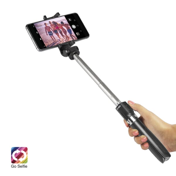 SBS Mobile Bluetooth Tripod Selfie Stick met Knop - Zwart voor Acer Liquid E1 Duo