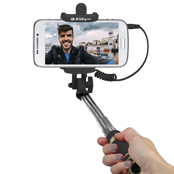 Easycell Universele Selfiestick met Kabel 50cm - Zwart voor Acer Liquid S1