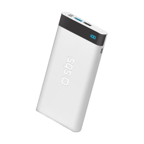 SBS Mobile Powerbank 10000 mAh Fast USB-C PD 18W / Lightning voor HTC Breeze 160