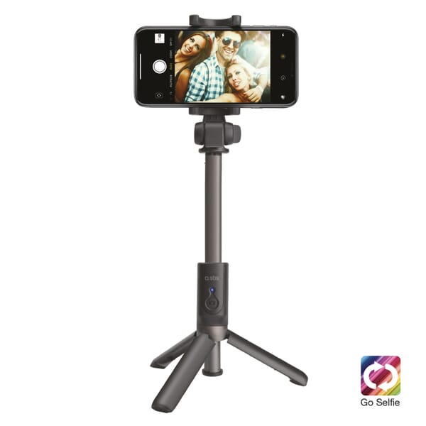 SBS Mobile Bluetooth Tripod Selfie Stick met Knop - Zwart voor Asus ZenFone Go 4.5