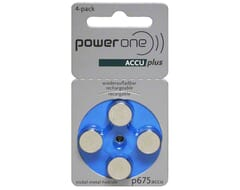 Powerone Rechargeable Hearing Aid P675 blister 4