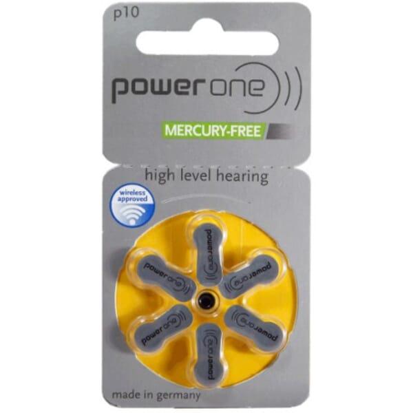 Powerone Hearing Aid Zinc-Air P10 blister 6 pcs.
