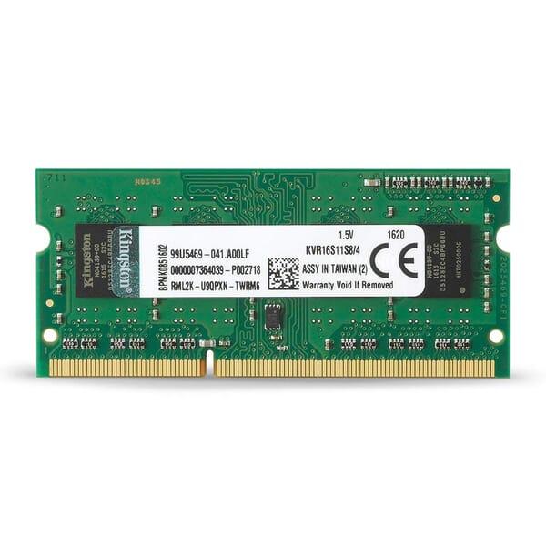 Kingston ValueRAM 4GB DDR3 RAM Geheugen 1600MHz SODIMM
