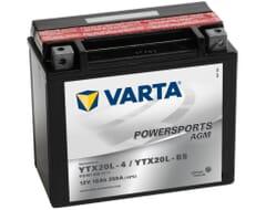 VARTA AGM Accu YTX20L-4 / YTX20L-BS 12V 18Ah