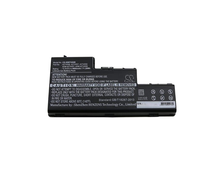 BATTERIA 6600mah per Laptop Lenovo 45j7914 42t4655 42t4558 42t4557 42t4556