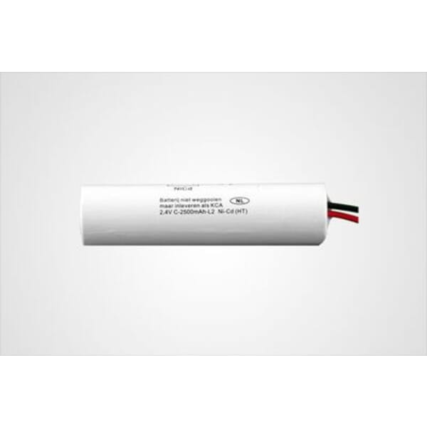 Noodverlichting Accupack 2.4V 2500mAh NiCd - 2x C Staaf