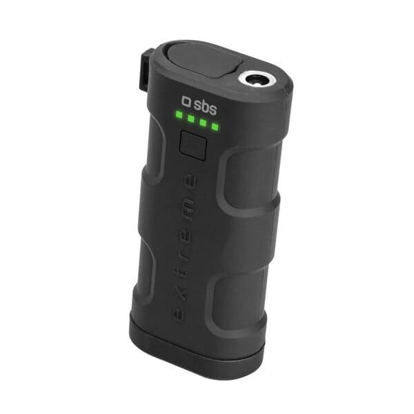 SBS Mobile Unbreakable Waterproof Powerbank 5200 mAh - Zwart voor HTC Breeze 160