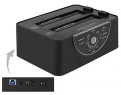 Delock USB 3.0 Dual Docking Station for 2 x SATA HDD / SSD w
