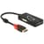 Delock Adapter Displayport 1.2 Stecker > VGA / HDMI / DVI Bu