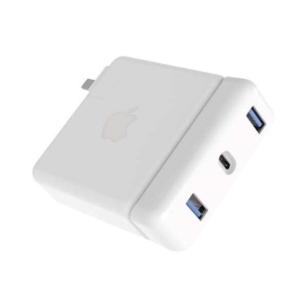Hyper USB-C HUB voor Apple Power Adapter 87W - Wit
