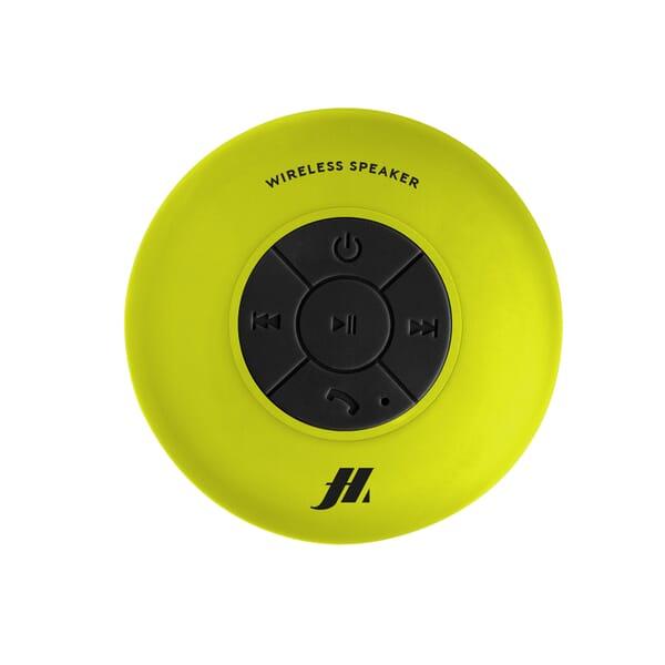 Music Hero Draadloze Speaker 3W Waterproof Zuignap - Geel