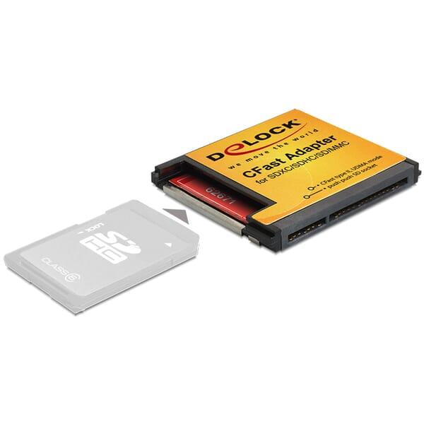 Delock CFast Adapter für SDXC / SDHC / SD Speicherkarten