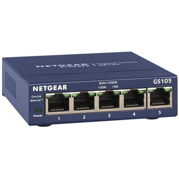 Netgear GS105GE 5-Poorts Gigabit Switch voor Toshiba Satellite L670D-120