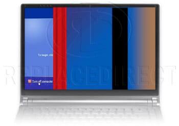 defect LCD beeldscherm: klein deel werkt
