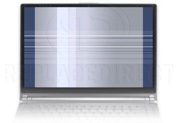 defect beeldscherm: verticale balken en horizontale strepen