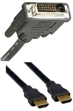DVI en HDMI kabels