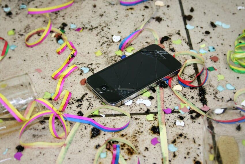 mobieltje defect tijdens carnaval