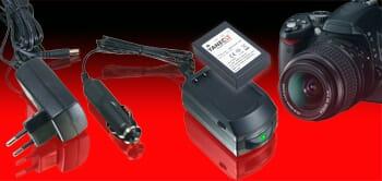Akkuladegeräte für Digitalkameras und Camcorder