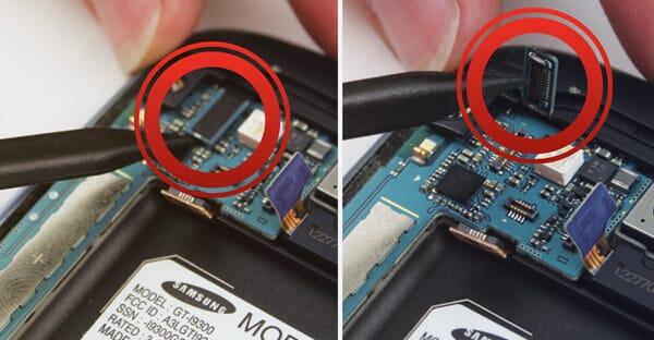 Verwijder Front Camera kabel