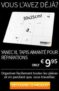 Yanec XL tapis aimanté pour travaux de réparation d'ordinateurs portables, tablettes et smartphones